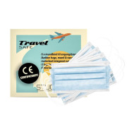 Cimi Beauty Mouth Tie 3-layer mask in neutral blue - 5 pieces.