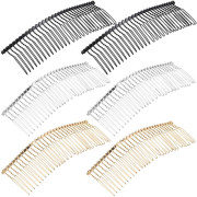 Hair comb metal 3.5 cm with 10 tines
