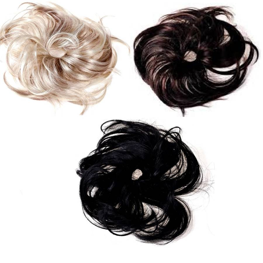 Faux Hair Ponytail holder with synthetic hair - color variants 5164b58231e