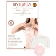 Bye Bra Push-Up Breast Tape + Satin Nipple Covers - Size A-C