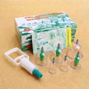 Cupping Therapy Set with Vacuum Pump - 6 pcs.