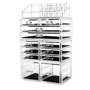 Avery XXL Organizer with 12 drawers and 16 compartments - Transparent