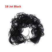 Messy Curly Hair Bun #1B - Jet Black