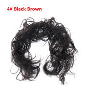 Messy Curly Hair Bun #4 - Blackish brown