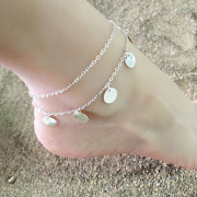 Anklet with Round Pendant