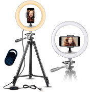 Ring Light Model 3120 for YouTube and Tik Tok | With Stand max. 136 cm & Bluetooth Remote Control