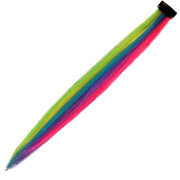 Crazy Color Clip on, Rainbow colors, 50 cm
