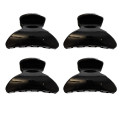 4 Pieces Mini Hairclips 2,5cm Black