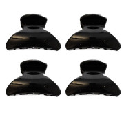 * 4 Pieces Mini Hairclips 2,5cm Black