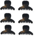 6 Pieces Mini Hair Clips 1,5 cm Black