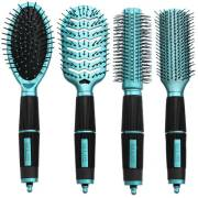 Hairbrushes set Turquoise/Blue edition - Salon Professional - Perfect Gift