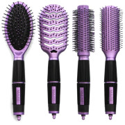 Hairbrush Set Purple Edition - Salon Professional - Perfect Gift