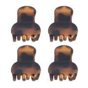 Soho® Mini Hair Clips - Tortoise 4 pieces