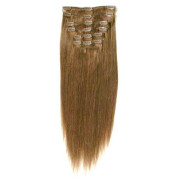 Clip on hair #12 50 cm Light Brown