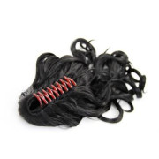 Ponytail Extensions with hair claw, Curly - Black #1