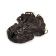 Ponytail Extensions with hair claw, Curly - Darkbrown #2