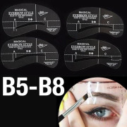 Eyebrow Stencil template cards (B5-B8) - 4 stk.