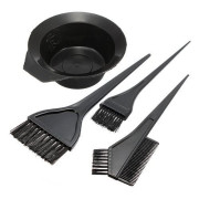 Hairdressing Salon Hair Color Dye Bowl Comb Brushes Kit