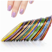 Nailtape for Nail Art - 10 Pieces in Different Colors