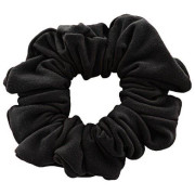 * Scrunchie - Velour & elastisk - Sort
