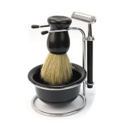Shaving set for men with Shaver, Brush, Foam and Holder