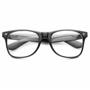 Classic Wayfarer Glasses with Clear Glass