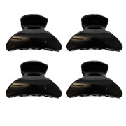 4 Hair Claws - 2,5 cm Black