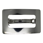 SOHO® Rectangle Metal Hair Clip - Silver