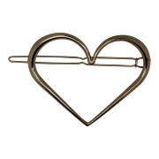 SOHO® Heart XL Metal Hair Clip - Gold
