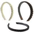 Hairband with Braided Hair in Different Colors