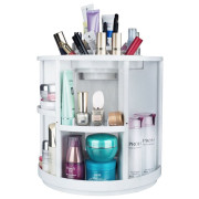 Monoko® 360º Rotating Makeup Organizer XL, White