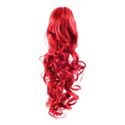 Pony tail Fiber extensions Curly Total red