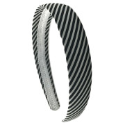 Headband Black and White Stripes