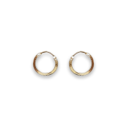 Creole Earrings for women, gold 15 mm