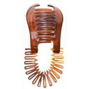 Banana Interlocking Hair Clip - tortoise