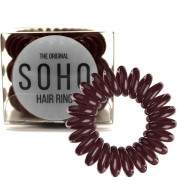 SOHO® Spiral Hair Elastics, CHOCOLATE BROWN - 3 pcs