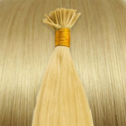 50 cm Cold Fusion hair extensions blonde 613#