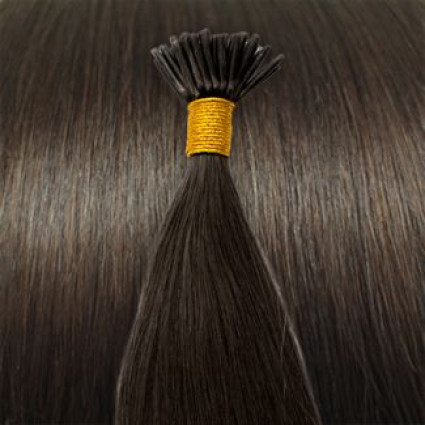 60 cm Cold Fusion hair extensions Dark Brown 2#