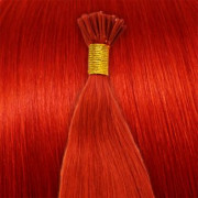 50 cm Cold Fusion Hair Extensions - Red