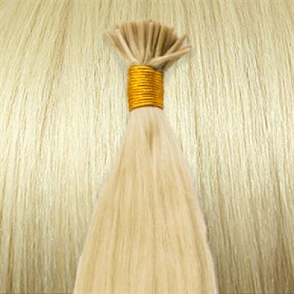 50 cm Cold Fusion hair extensions Platin blonde 60#