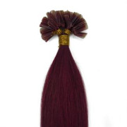 60 cm Hot Fusion Hair extensions 33# Red