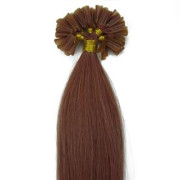 50 cm Hot Fusion Hair extensions 30# Red brown