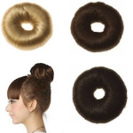 7 cm Faux Hair donut with fake Synthetic hair - Many colors