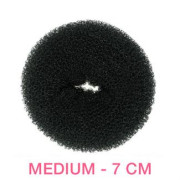 7 cm Hair donut - black