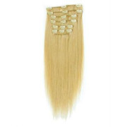 7set Fake hair extensions fiber hair Blonde 613#