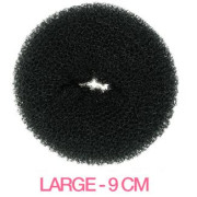 9 cm Hair donut - Black