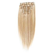 Clip on hair extensions 65 cm Light Blonde Mix 27/613#