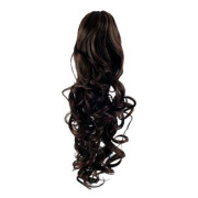 Pony tail Fiber extensions Curly Dark Brown 2#