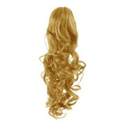 Pony tail Fiber extensions Curly golden blonde 27#