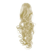 Pony tail Fiber extensions Curly platin blonde 60#